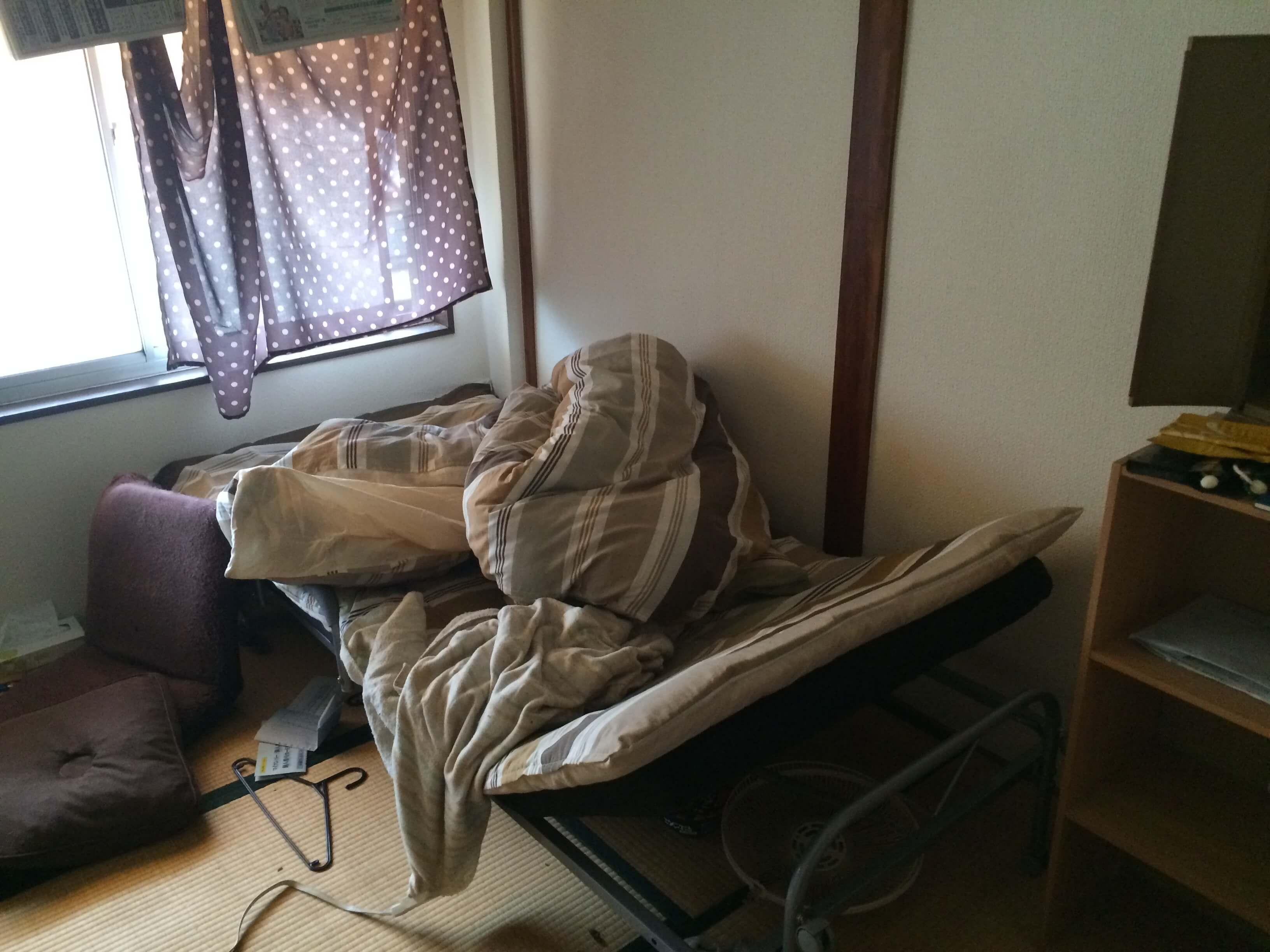 ベッドの整理