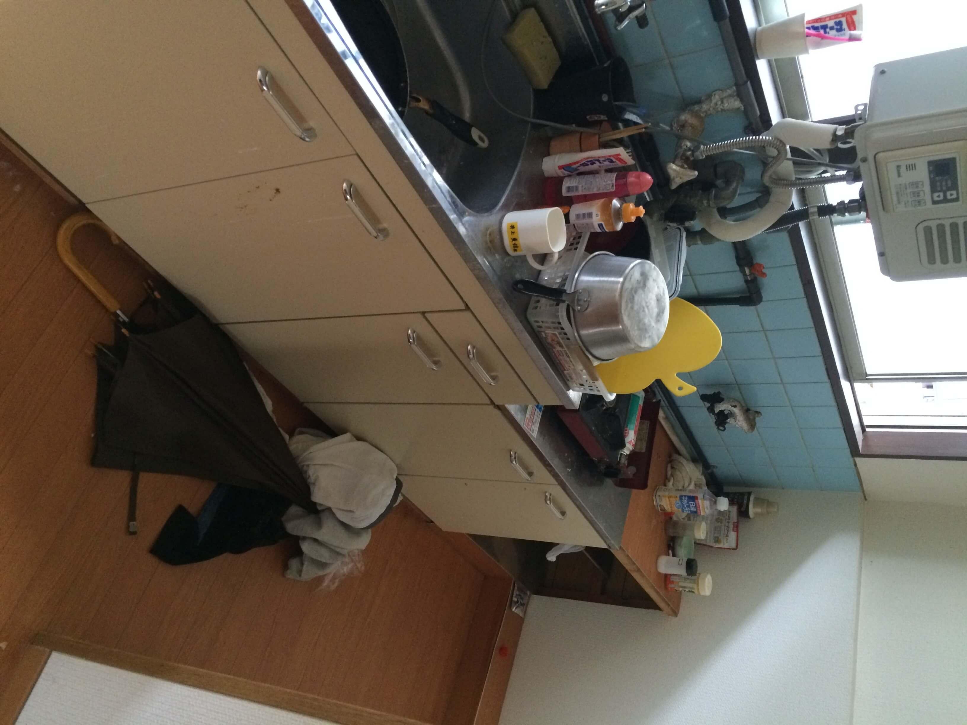 台所の片づけ
